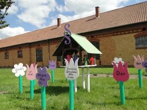 Von Schülern erstellter Garten des Friedens
