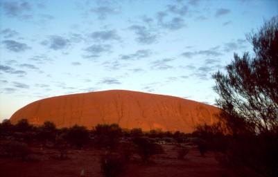 Uluru im Sonnenaufgang