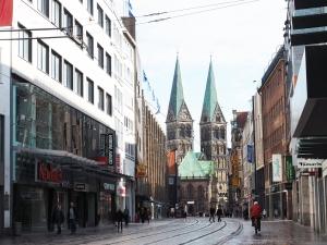 Obernstraße mit Bremer Dom