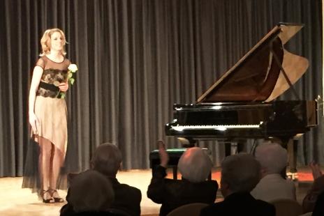 Jamina Gerl nimmt den wohlverdienten Applaus entgegen