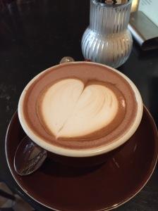 Herz auf Cio Kaffee