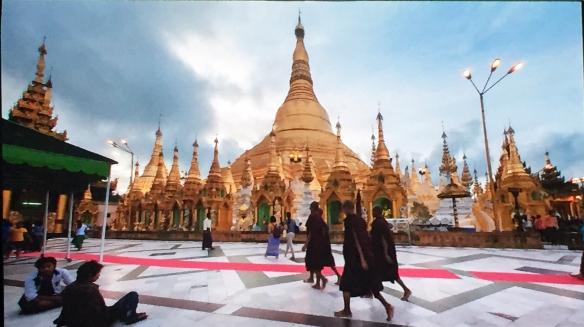 Die Shwedagon-Pagode in Yangon