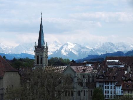 Die Alpen: Blick von der Kornhausbrücke