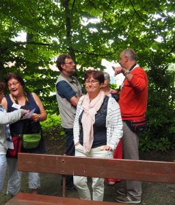 Unsere Gastgeber Carina, Dirk, Anita, Bert und verdeckt Christel