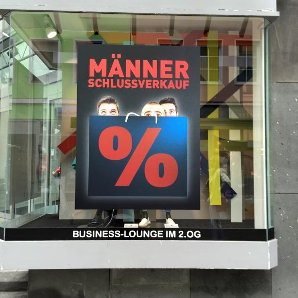 """Schaufenster: """"Die blaue Hand"""", Trier"""