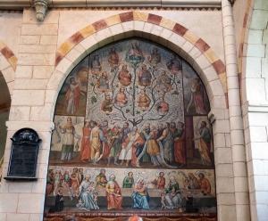 Wandgemälde: Ahnenreihe Jesu