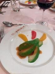 Vorspeise: Avocado m. Zitrusfrüchten