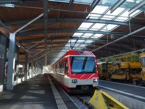 Shuttlezug von Zermatt nach Täsch