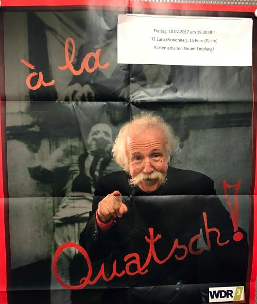 Burkard Sondermeier auf dem Plakat des WDR3
