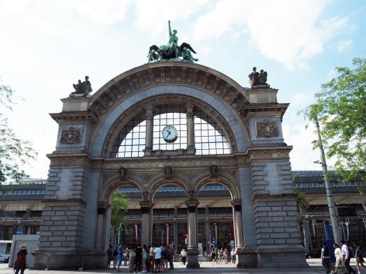 Das alte Bahnhofsportal von 1896