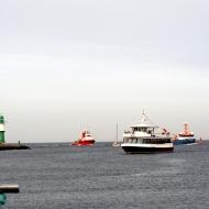 In der Hafeneinfahrt