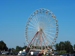 Riesenrad am neuen Hafen